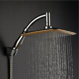 KE 360° Drehgelenk 22,9cm quadratisch Rainfall Kopfbrause Ionic Filtration Hohe Druck Wasserspar Handbrause -