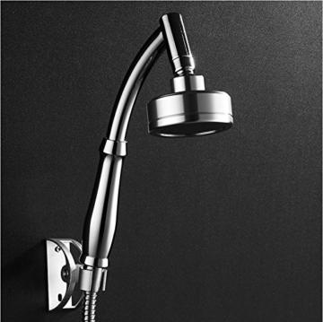 ke1aip Aluminium Duschkopf High Pressure Wasserspar Handbrause Düse Handbrause mit 1,5m langen Schlauch und Halterung -