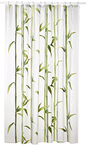 Kleine Wolke 5249625305 Duschvorhang Bambú, 180 x 200 cm, maigrün -