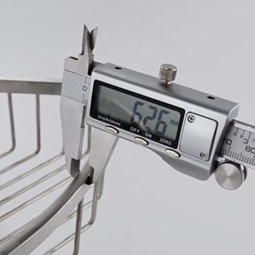 Konhard CS002 Wandkorb aus gebürstetem Edelstahl, für Badezimmer und Dusche, 2-stöckig. -