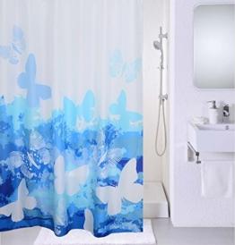Magic Vida Dekorative Duschvorhang Nature Series mit lebendigen Farben (180cm x 200cm, Schmetterling) -