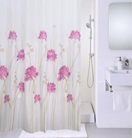 Magic Vida Dekorative Duschvorhang Nature Series mit lebendigen Farben (180cm x 200cm, Gartennelken) -