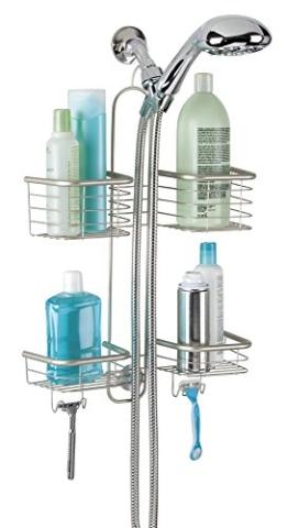mDesign Duschablage zum Hängen - praktisches Duschregal - ohne Bohren zu montieren - Duschkörbe zum Hängen aus Edelstahl für sämtliches Duschzubehör (Shampooflaschen, Rasierer etc.) -