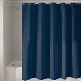 Misslight Wasserfest Duschvorhang bunte Baum Hai Tier Krake Katze Seestern Badezimmer Anti-Schimmel-Effekt Polyester Bad Vorhang wasserdicht mit Haken Digital gedruckt (blue) -