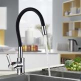 """Neueste Auralum """"C"""" Type schwarz 360° Drehbar Wasserhahn Küchenarmatur Waschtischarmatur -"""