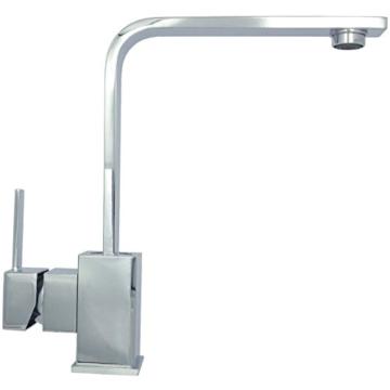 Niederdruck Küchenarmatur Spültischarmatur Wasserhahn Mischbatterie Einhebelmischer Einhandmischer Küchen Armatur Waschbeckenarmatur 360° schwenkbar Untertischgerät in Chrom 8008 -