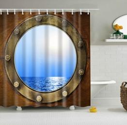 Oriental Pearl 3d Lebendigen Langlebig Duschvorhänge mit 12 Haken, 180 x 180cm -