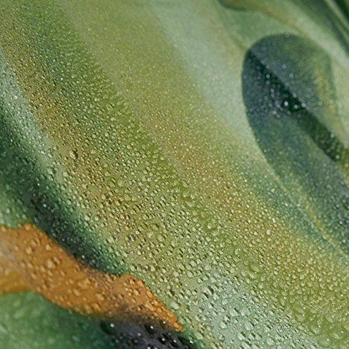 relaxdays duschvorhang bambus design polyester textil waschbar pflanze stoff 200 x 180 cm. Black Bedroom Furniture Sets. Home Design Ideas