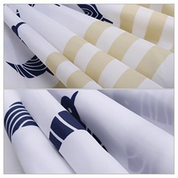 S-ZONE Blaue Glückliche Vögel Drucken Duschvorhang Verdicken Anti-Schimmel Textilien Polyester Wasserabweisend mit 12 Vorhangringe -