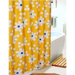 S-ZONE Sonnenblume Drucken Duschvorhang Verdicken Anti-Schimmel Polyester Wasserabweisend 180x180 -