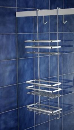 Satina, Hängeablage aus Chrom für die Duschecke, hygienisch, in Schweden hergestellt, 79 cm, von Norwood -