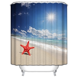 Starsglowing 180x180cm Duschvorhang Duschvorhänge Badewannenvorhang Anti-Schimmel wasserdichter mit 12 Duschvorhangringe für Bad Badezimmer (Typ 4) -