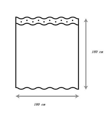 Starsglowing 180x180cm Duschvorhang Duschvorhänge Badewannenvorhang Anti-Schimmel wasserdichter mit 12 Duschvorhangringe für Bad Badezimmer (Typ 5) -