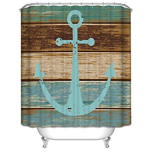 duschvorhang mit ankermotiv 180x180cm starsglowing der badarmaturen. Black Bedroom Furniture Sets. Home Design Ideas