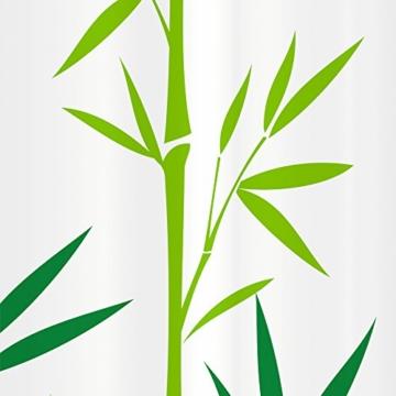 Tatkraft Bamboo Green Duschvorhang 180X180cm Peva Wasserdicht Schimmelfrei mit 12 Duschringen -