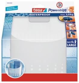 tesa Duschkorb groß, wasserfest, selbstklebend, bis 3 kg belastbar, wieder ablösbar -