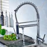 Timaco Wasserhahn Spültischarmatur Spiralfeder Armatur Einhebel Küchenarmatur Chrom -