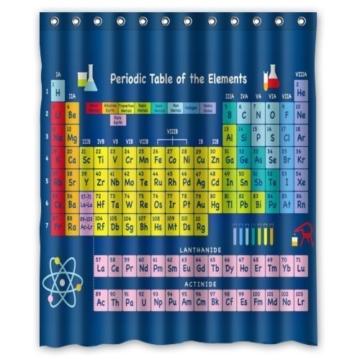 Violetpos Periodensystem der chemischen Elemente Duschvorhang Badezimmer Dekorative 120 x 180 cm -