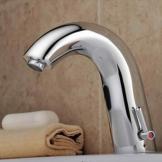 Waschtischarmatur Badarmaturen hochwertige Wasserhahn f. Bad und Küche mit automatischer Sensor (warm und kalt wasser) -
