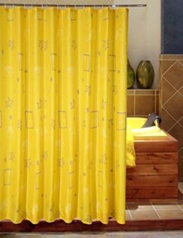 Wasserdichter Duschvorhang, Gelbe Muscheln Polyester Duschvorhänge Wasserdicht Dicker Badezimmer Cartoon Duschvorhang (eine Vielzahl von Größen optional) , Mouldproof Bad Duschvorhang ( größe : 100*180cm ) -