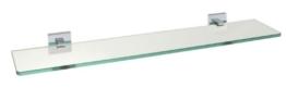 WENKO 17979100 Power-Loc Satin Wandablage San Remo - Befestigen ohne bohren, Messing, 60 x 5 x 13.5 cm, Chrom -