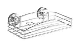 WENKO 20883100 Vacuum-Loc Wandablage - Befestigung ohne bohren, Stahl, 26 x 6.5 x 14 cm, Chrom -