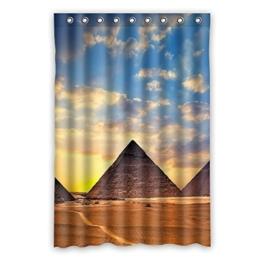 """120 cm x183 cm (48 """"x72"""") Bad Duschvorhang, Sonnenuntergang Schönheit unter den Wasserverdunklungsvorhänge Pyramide Toilette. -"""
