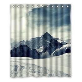 """152 cm x183 cm (60 """"x72"""") Bad Duschvorhang, die schöne Landschaft der Berge, Bad wasserdichte Polyester Vorhänge. -"""