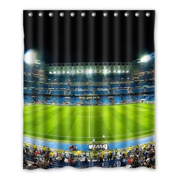 Dalliy Brauch Fu?ball-Stadion Wasserdicht Polyester Shower Curtain Duschvorhang 152cm x 183cm -