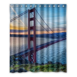 Dalliy Brauch Golden Gate Bridge Wasserdicht Polyester Shower Curtain Duschvorhang 152cm x 183cm -
