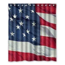 Dalliy Brauch usa flaggen Wasserdicht Polyester Shower Curtain Duschvorhang 152cm x 183cm -