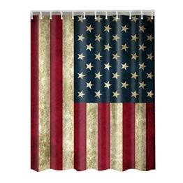 Dremisland Amerikanische USA Flagge von USA Muster gedruckt Wallpaper Hintergrund Duschvorhang 72 x 72 Zoll Badezimmer -