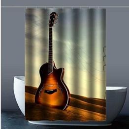 gitarre Guitar custom wasserdicht duschvorhang 100% ployester fabrik duschvorhang im bad 120x183cm -