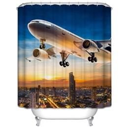GYMNLJY Duschvorhang Polyester 3D Flugzeug Wasserdicht Mehltau warm halten Bad Badewanne ein Bad nehmen Occlusion Fenstervorhänge , 1 , 200*180cm -