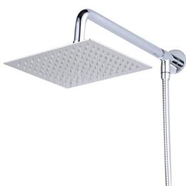 Hiendure® 30cm Quadrat Luxus Regendusche Einbauduschköpfe Edelstahl Duschkopf aus Edelstahl Spiegeleffekt Hochglänzend -
