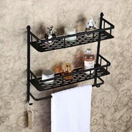 Hiendure ® Aus Messing Bad Handtuchhalter Badregal Wandregal Badetuchstange Regal Wandhandtuchhalter Handtuchstange, zur Wandmontage -