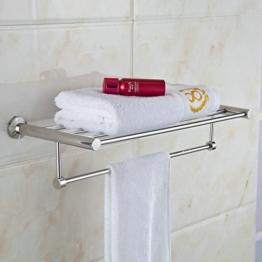Hiendure Handtuchhalter zur Wandmontage mit 5 Stangen aus Edelstahl, verchromt -