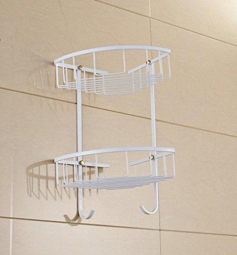 hiendure massivem messing an der wand montiert dual tier. Black Bedroom Furniture Sets. Home Design Ideas