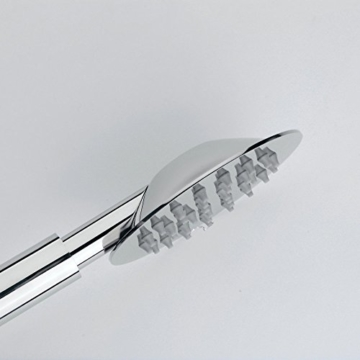 Hiendure® Moderne 4 Zoll Runde Handbrause wasserfall Badezimmer Silber Anti-Kalk-Düsen Duschkopf Edelstahl, Chrom -
