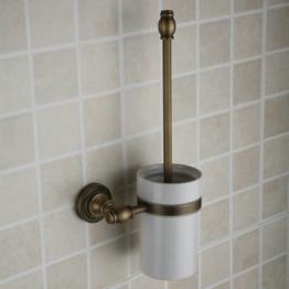 Hiendure ®Toilettenbürstenständer WC-Bürstenhalter Rollenhalter WC-Garnitur Klobürste Klobürstenhalter Glas Bürste Standfuß -