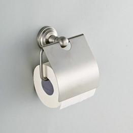 Hiendure® Toilettenpapierhalter Toilettenrollenhalter Klopapierhalter Klorollenhalter mit Deckel aus Edelstahl rostfrei WC-Rollenhalter Papierrollenhalter für Toilette Wandmontage -
