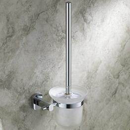 Hiendure® WC-Bürstenhalter Toilettenbürstenständer Messing Chrom Toilettenbürste und Halter -