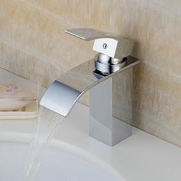 Hiendure®Einhebel-Waschtischmischer Mischbatterie Wasserhahn Keramik-Kartusche Armatur für Bad Wasserbecken Spüle -