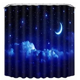 Kingko® 150x180cm Schön Digitaldruck wasserdicht Polyester Bad Duschvorhang mit 12 Haken, wasserdicht, Schimmel-Beweis, langlebig (G) -