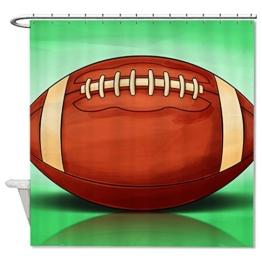"""rioengnakg American Football Wasserdicht Polyester Duschvorhang Liner, Polyester, #1, 66""""x72""""(165x180cm) -"""