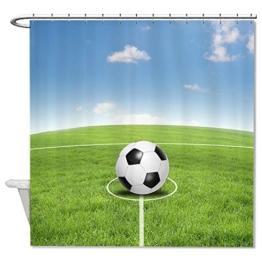 """rioengnakg Fußball Lover Geschenk Wasserdicht Polyester Duschvorhang Liner, Polyester, #1, 66""""x72""""(165x180cm) -"""