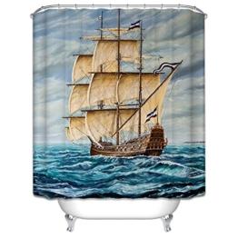 Starsglowing 180x200cm Duschvorhang, Duschvorhänge, Badewannenvorhang, Anti-Schimmel wasserdichter mit 12 Duschvorhangringe für Bad (Design 3) -