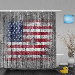 Vintage USA Flagge auf alten Holz klassische Badezimmer Duschvorhang Wasserdicht Mehltau ployster Stoff 91,4x 182,9cm Zoll, Multi5, 80(length) X 72(width) -
