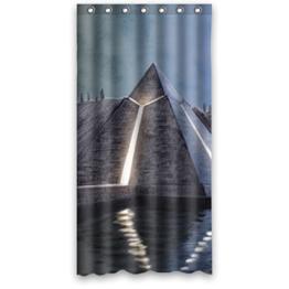 vinvin Pyramide Wasserdicht Duschvorhang aus Stoff, 167,6x 182,9cm über 167cm x 183cm, Polyester, E, 168 x 183 cm -