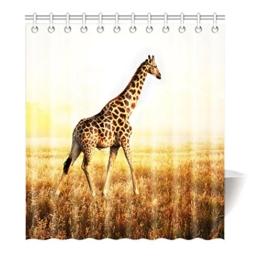 Violetpos Duschvorhang Afrika Prärie Giraffe Hochwertige Qualität Badezimmer 180 x 200 cm -